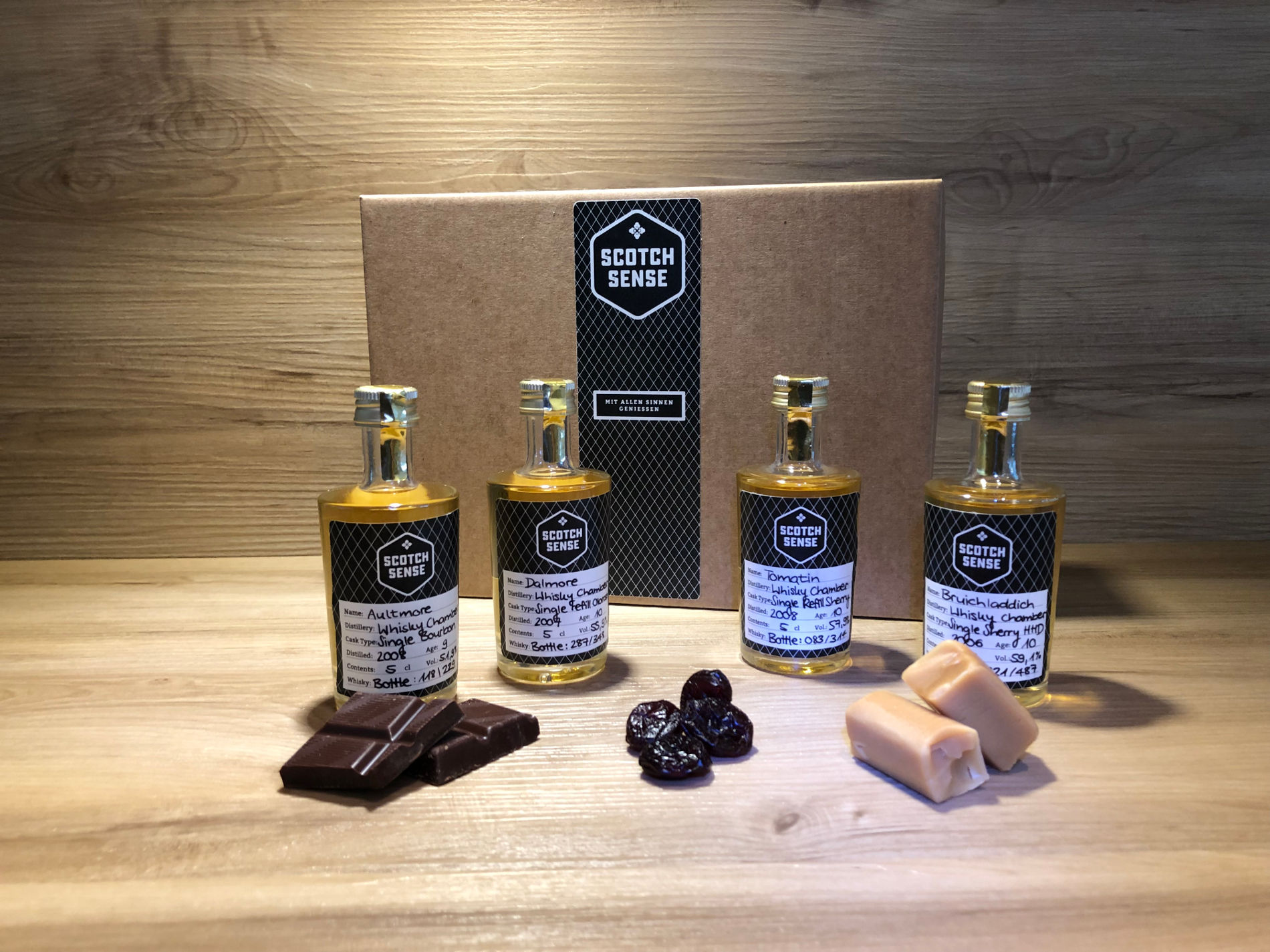 Whisky Tasting Set Scotch Sense, Whisky Geschenk Set