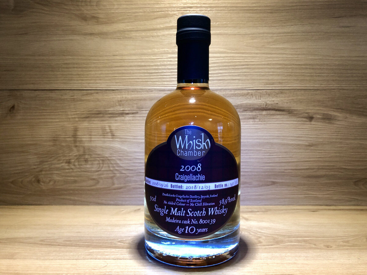 ScotchSense Craigellachie 10Jahre, limited Madeira Single Cask, The Whisky Chamber, Whisky Tastingset