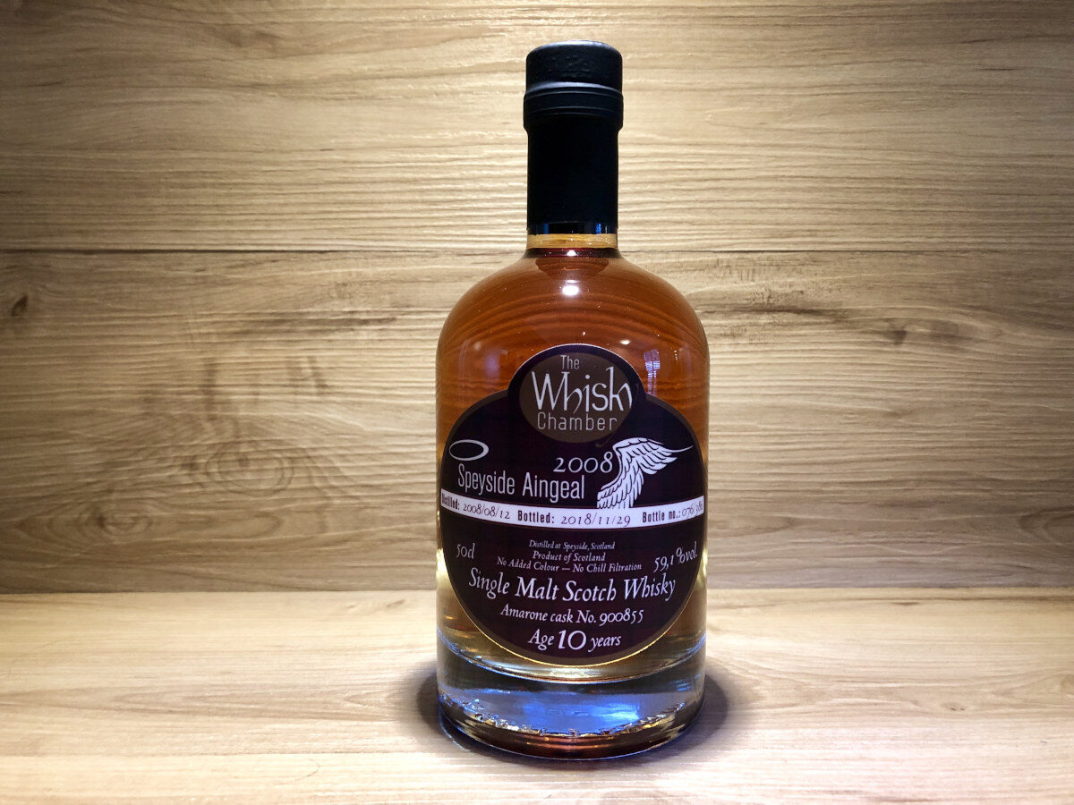 ScotchSense, Speyside Aingeal 10Jahre, Amarone Single Cask, The Whisky Chamber, schottischer Whisky