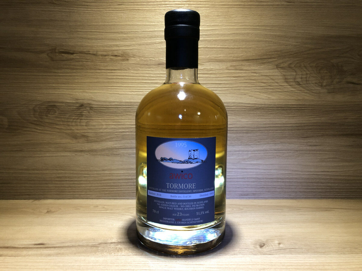ScotchSense, Probierflasche, Tormore 23y, limited, Bourbon Single Cask, schottischer Whisky, Speyside