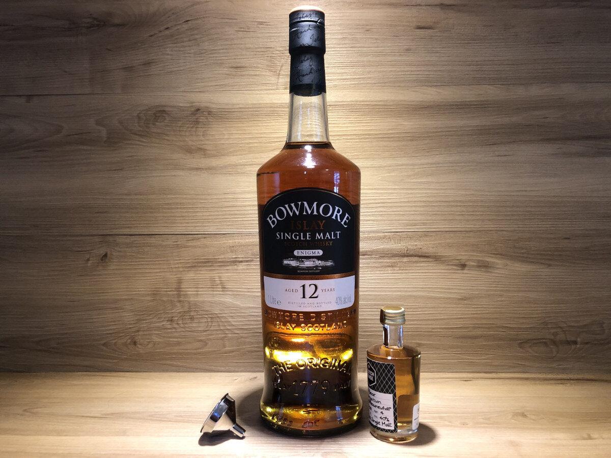 ScotchSense, Bowmore Enigma 12 Jahre, Probierflasche, Tastingset selber zusammenstellen, schottischer Whisky