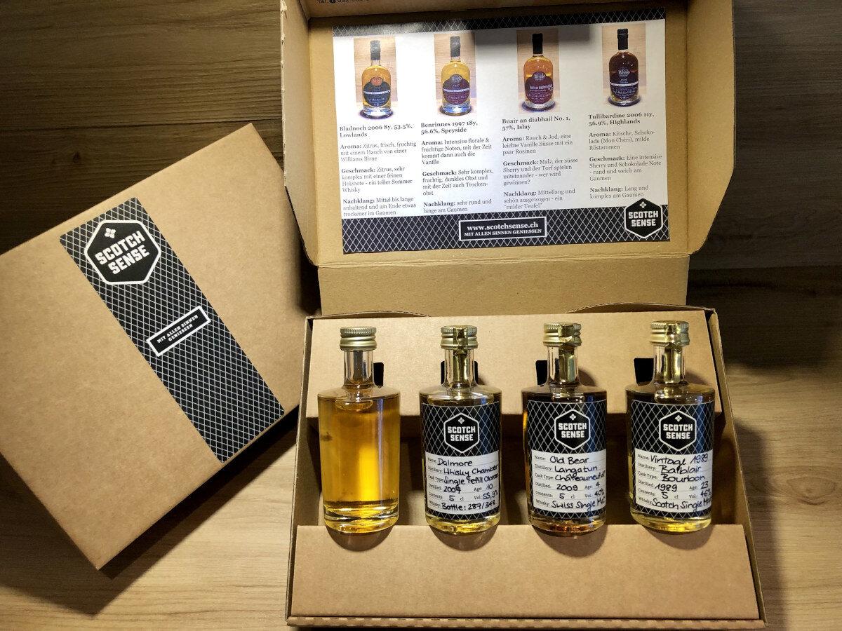 Persönliches Whisky Tasting Set, Scotch Sense. Whisky Tastingset zusammenstellen, Geschenkset