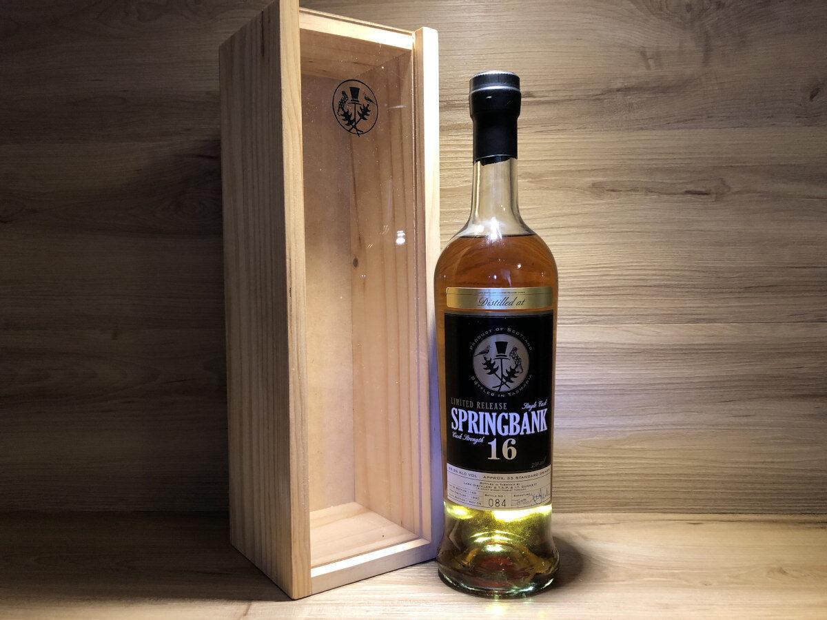 Springbank 16y bottled in Tasmania, Scotch Sense, schottischer Whisky, Geschenkset Whisky