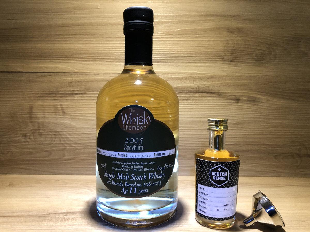 Probierflasche Speyburn 11y, Scotch Sense_Speyburn 2005, Whisky Chamber, Whisky Tasting Set kaufen, schottischer Whisky kaufen, SingleMalt teilen