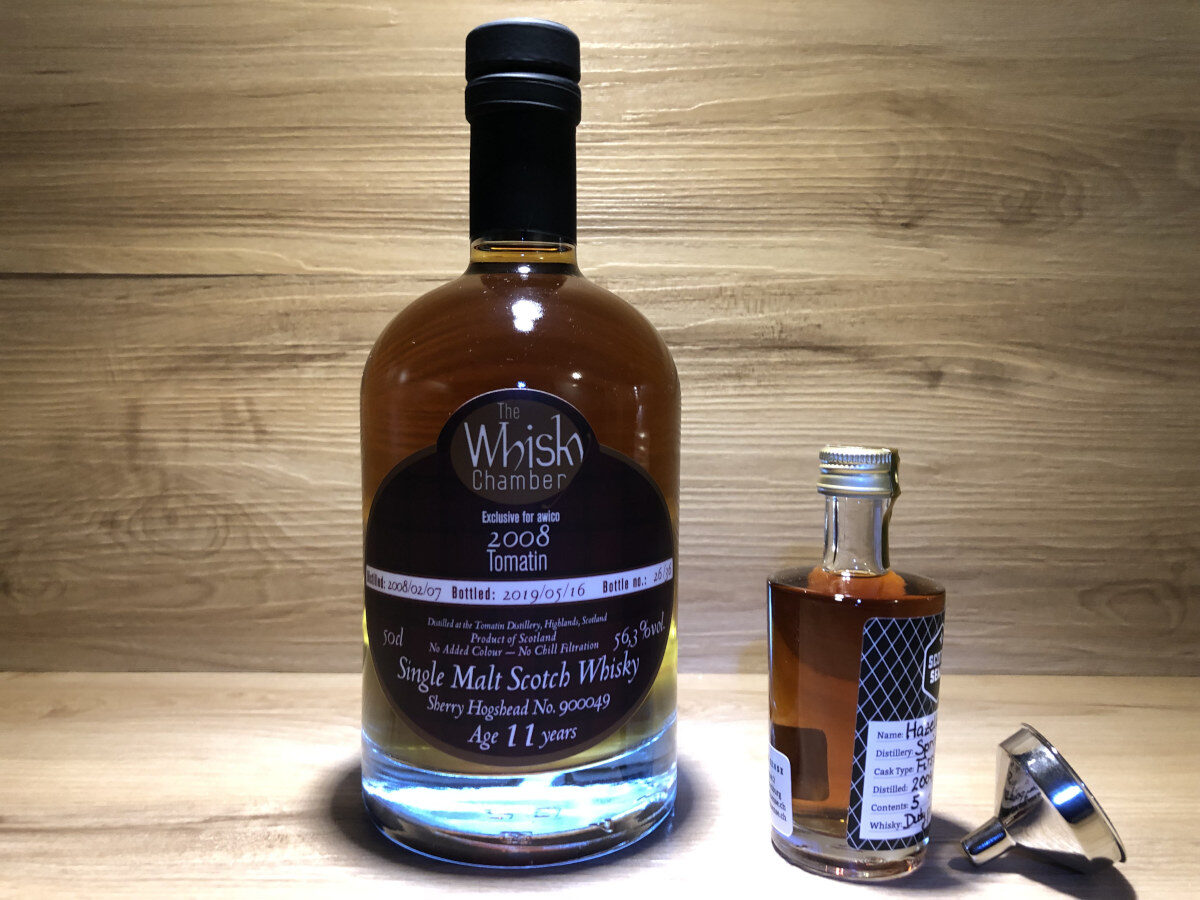 Probierflasche Tomatin 11 y Dark Sherry, ScotchSense, WhiskyChamber, Tastingset kaufen, Whisky kaufen und teilen, Scotch Probierset, Whisky Geschenkset