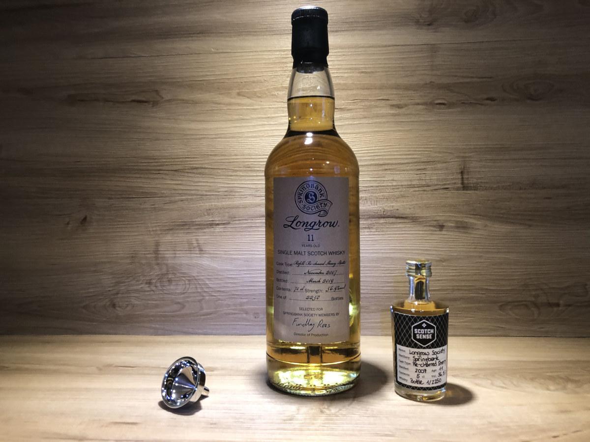 Probierflasche_Longrow 11y_Society Abfüllung 2019_recharred Sherry Cask_schottischer Whisky kaufen_Tastingset_Geschenkset