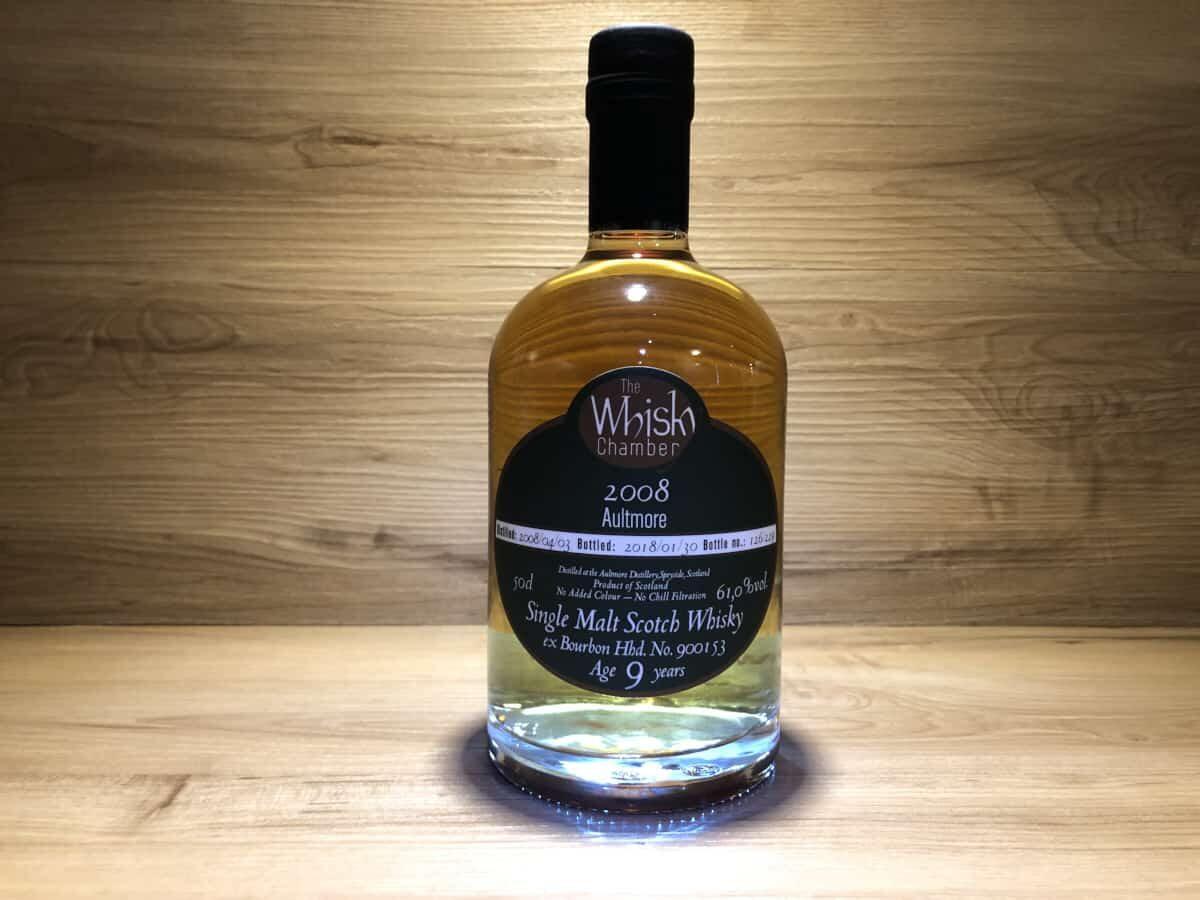 Aultmore 2008, 9 Jahre, Whisky Chamber, Probierset Scotch Sense, süsse Verführung