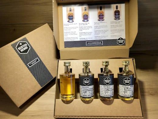 Persönliches Whisky Tasting Set Whiskyprobierset, Geschenkset kaufen, Samples, schottischer Whisky kaufen