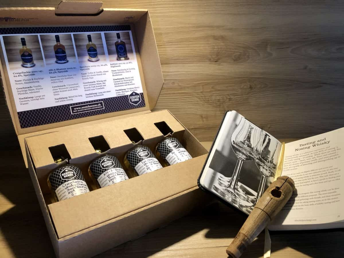 Whisky Tasting Set Cask Ends kaufen, Scotch Sense Whisky online teilen