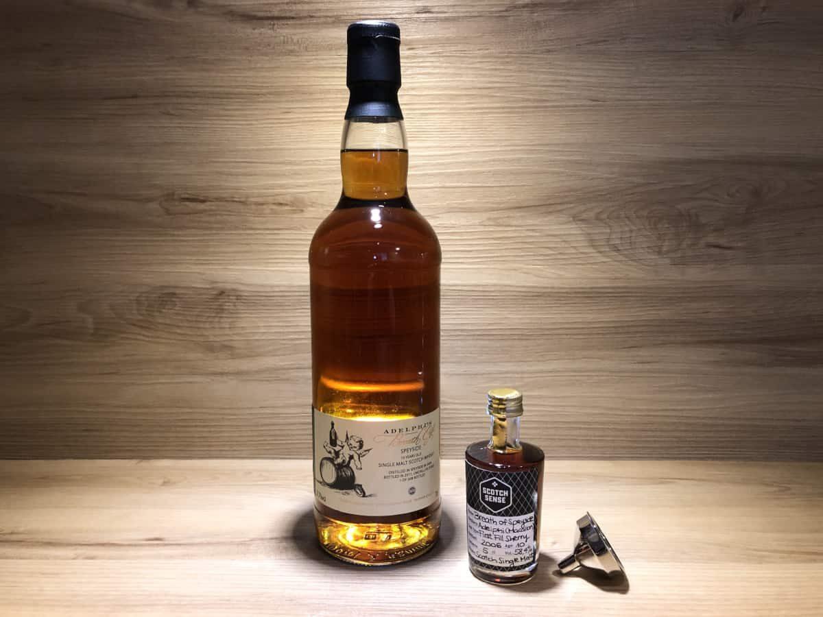 Macallan 10 y, ScotchSense, Breath of Speyside, Adelphi_, 10 Jahre, First Fill Sherry Cask, schottischer Whisky teilen, Miniaturen, Probierflaschen und Sample kaufen