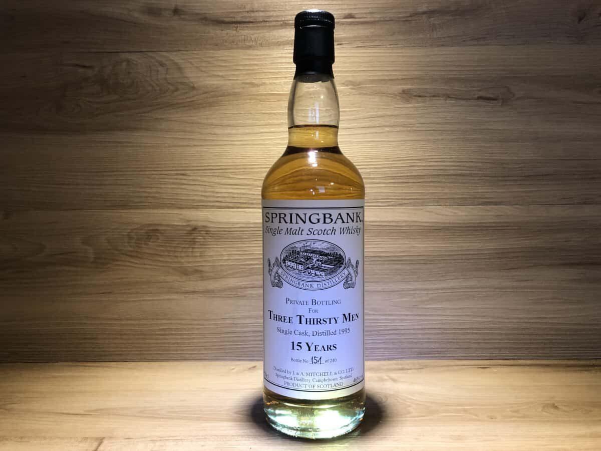 Springbank Three Thirsty Men 15, Scotchsense Rarität kaufen, Sherry Cask, Whisky Geschenkset