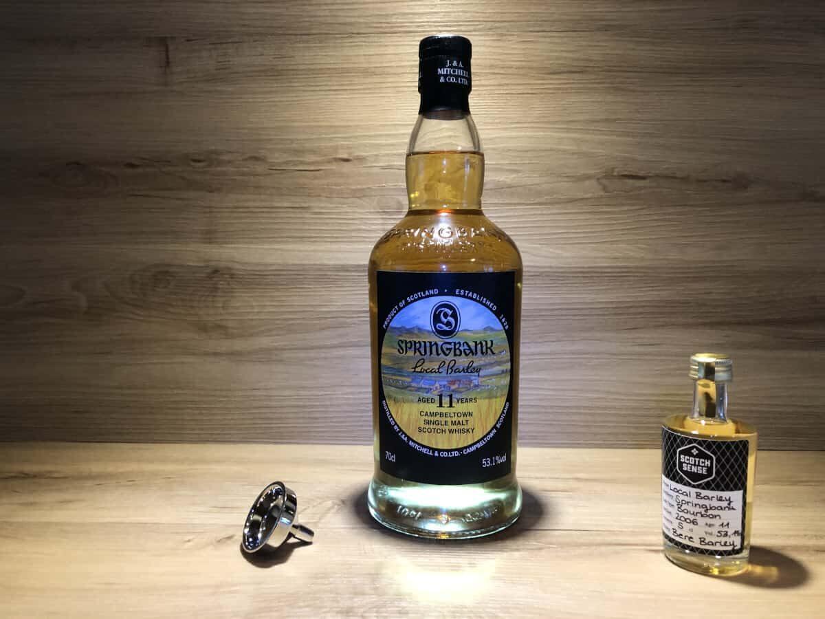 Probierflasche Local Barley 11 Springbank, Scotch Sense Geschenkset Whisky & Schokolade kaufen