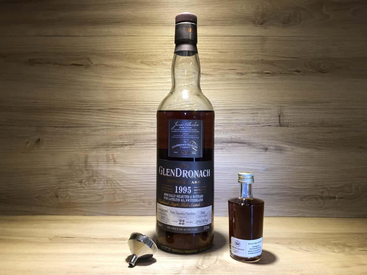 Probierflasche Glendronach 22 Jahre PX Sherry, Persönliches Whisky Tasting Set kaufen