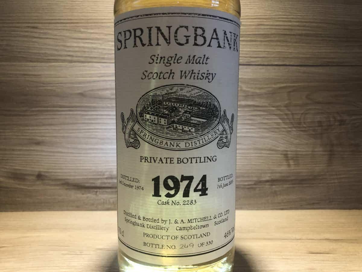 Springbank 1974 28 Jahre, Whisky Springbank Raritäten bei Scotchsense, Whisky Tasting Set, Whisky Online Tasting bei Scotch Sense
