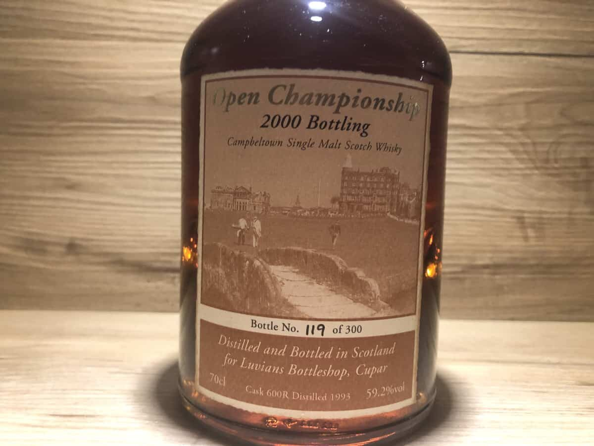 Springbank Open Championship 2000 Bottling Signatory, Whisky Raritäten bei Scotch Sense kaufen