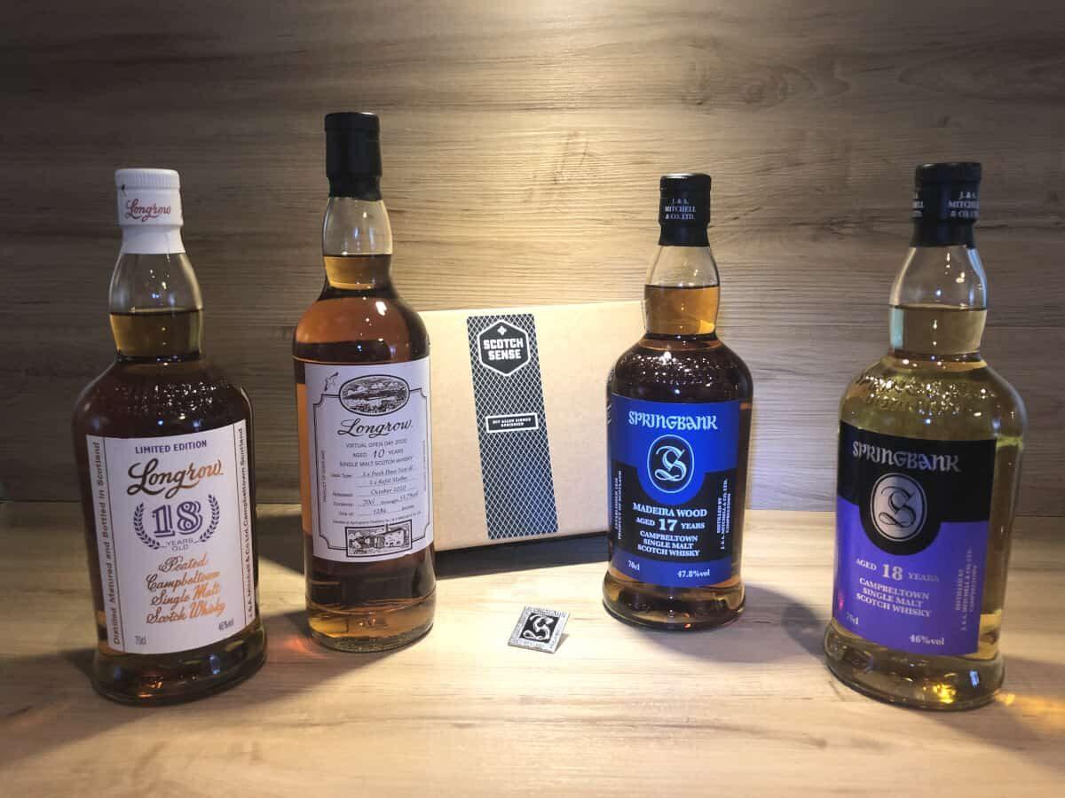 Tasting Set Springbank Special Release, Springbank 17 Madeira, Longrow 10 virual open_day, Springbank 18 2018, Longrow 18 2018, Whisky Geschenkset kaufen