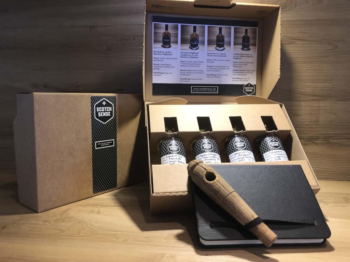 ScotchSense Whisky Geschenkset Cask Ends II kaufen, Macduff, Westport, Speyburn Port, Tullibardine Dark