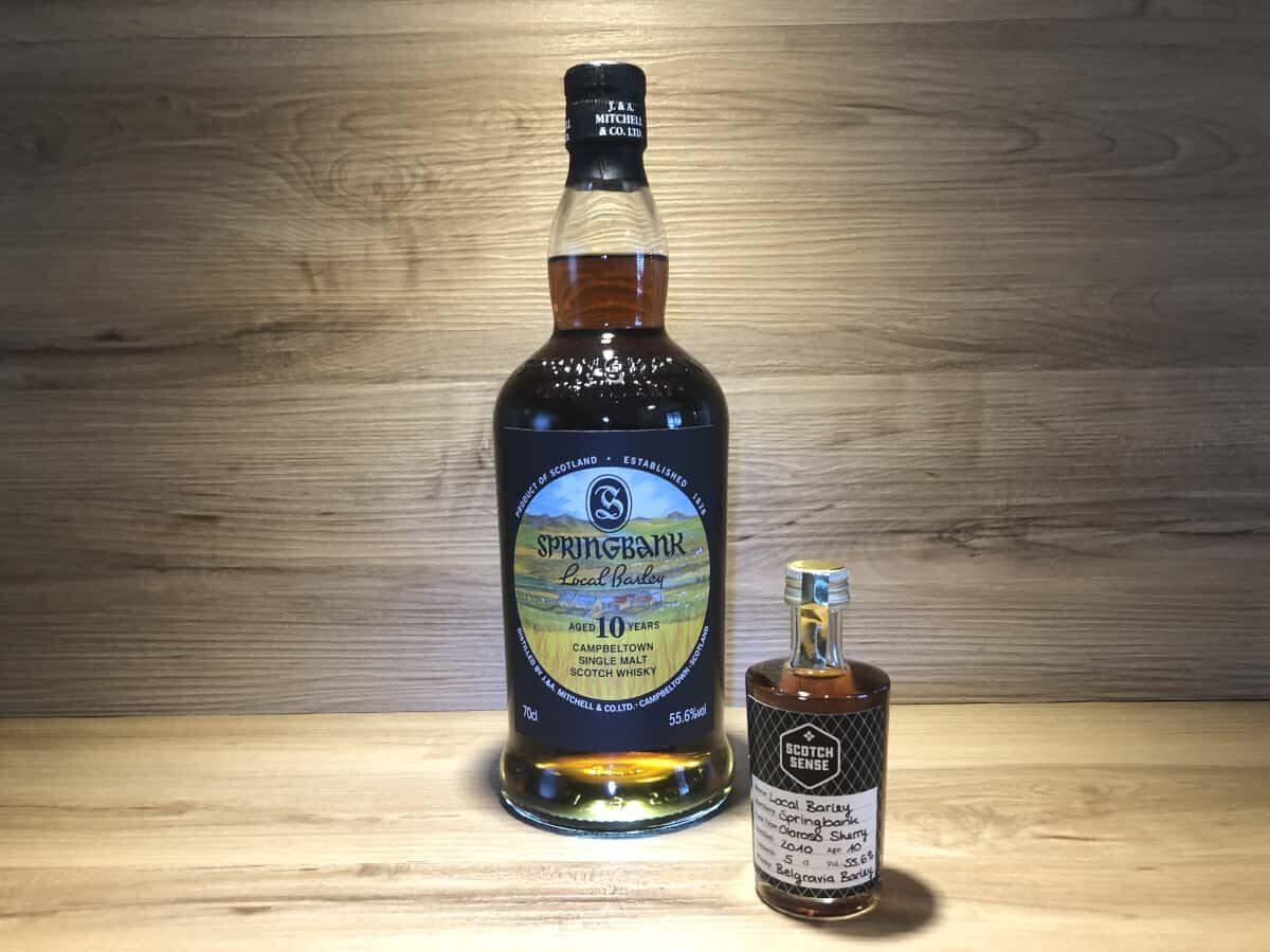 Probierflasche Local Barley 2021, Springbank 10 Jahre, Scotch Sense Whisky Rarität kaufen