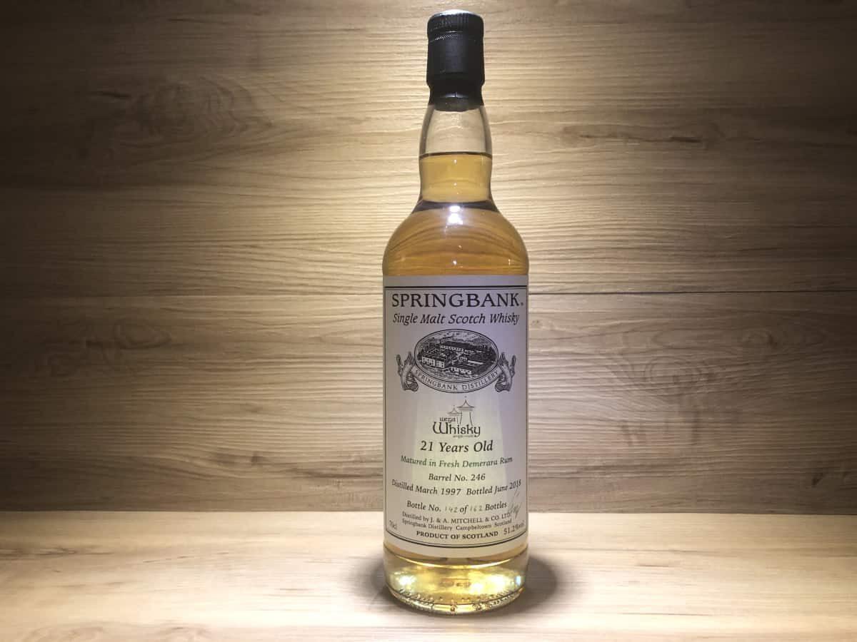 Springbank 1997 21 Wega Whisky Demerara Rum, Scotch Whisky Raritäten online teilen und kaufen