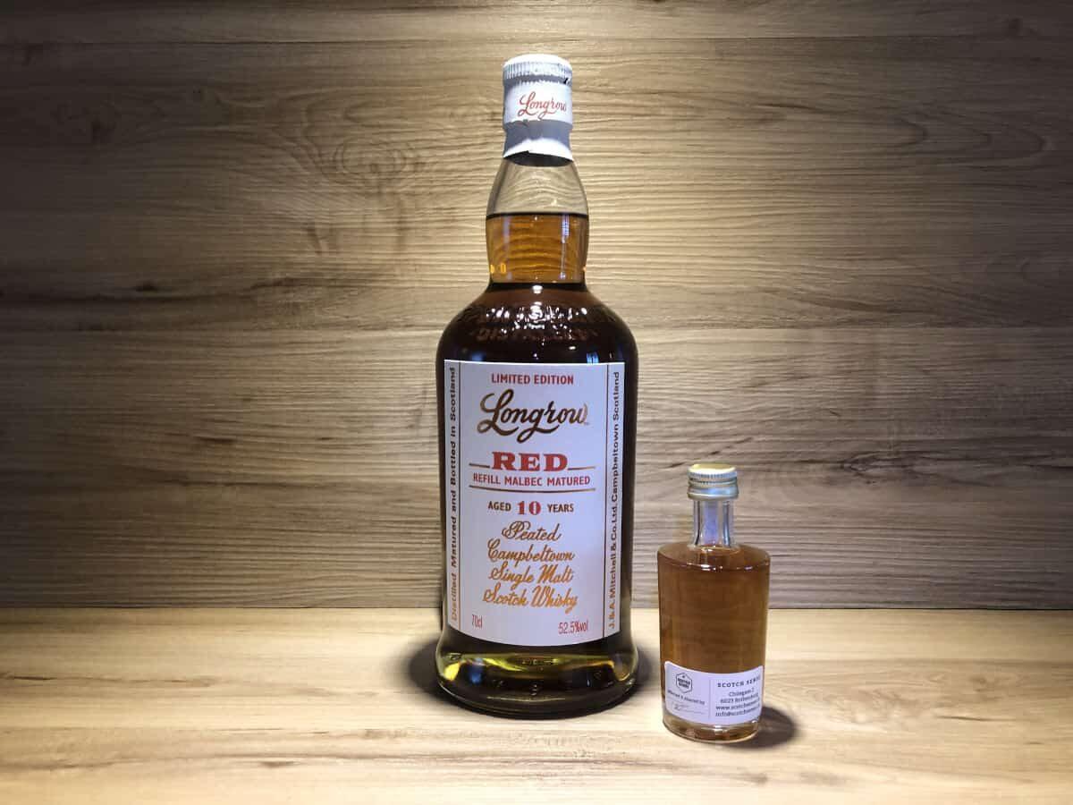 Probierflasche Longrow red Malbec 10 Jahre, Springbank Whisky online teilen und Probierflasche bei Scotchsense kaufen
